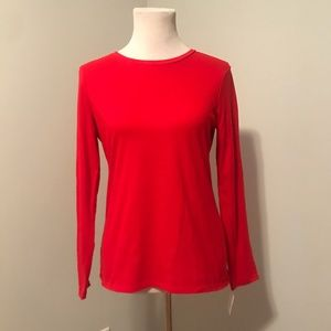 Red Lord & Taylor Long Sleeve Crew Neck Shirt